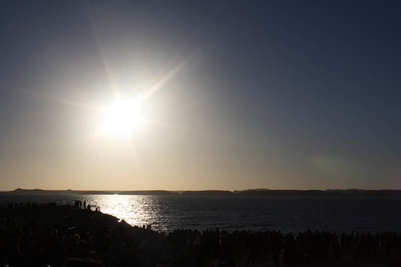 Sunrise over Lake Nasser at Abu Simbel