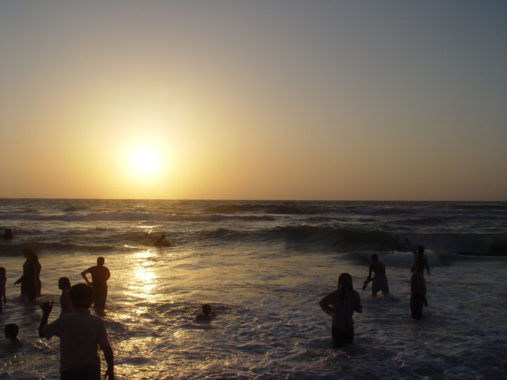 Sunset over the Mediterranean Sea at Alexandria