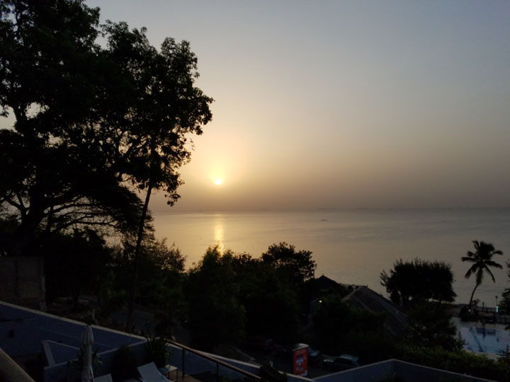 Sunrise in Dakar, Senegal