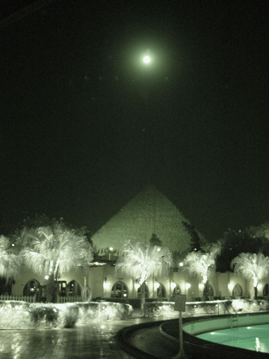 Moonrise over the Great Pyramid
