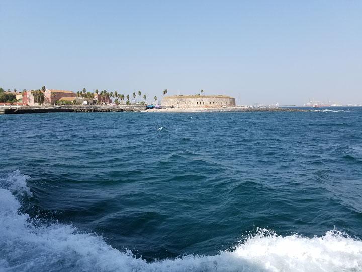 Gorée Island, as Seen from the Ferry Approaching It