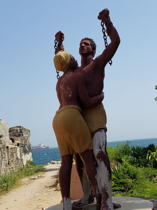 Gorée Island, the Statue of Liberation