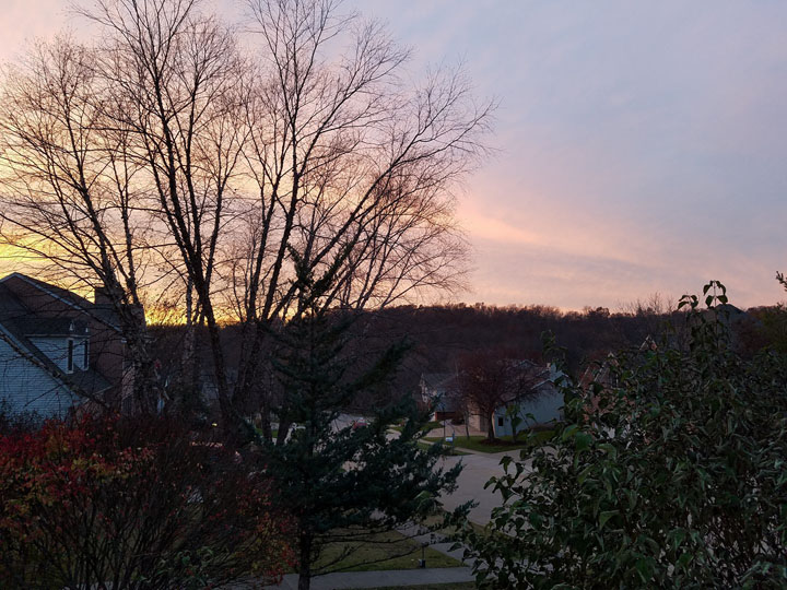 Sunset in Iowa City, Iowa November 2017