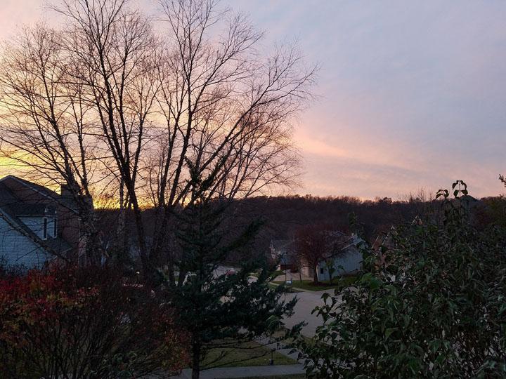 Sunset in Iowa City, Iowa November 2017