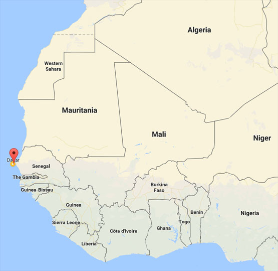Finding Senegal on a Map of Africa