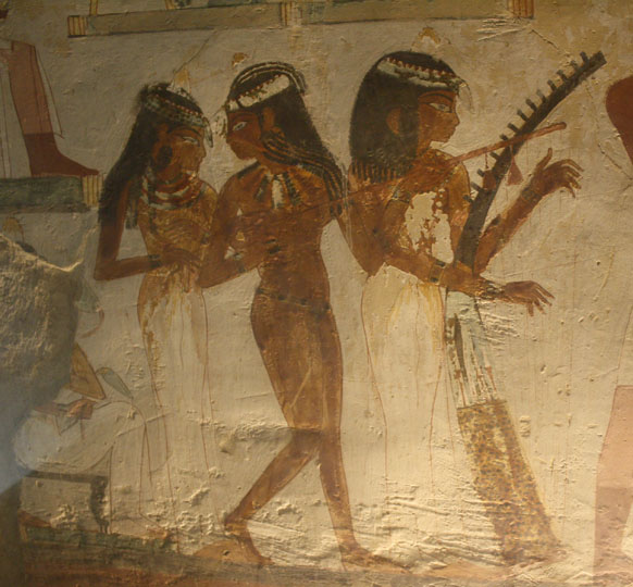 The Three Musicians and the Cat (Tomb of Nakht Near Luxor, Egypt)