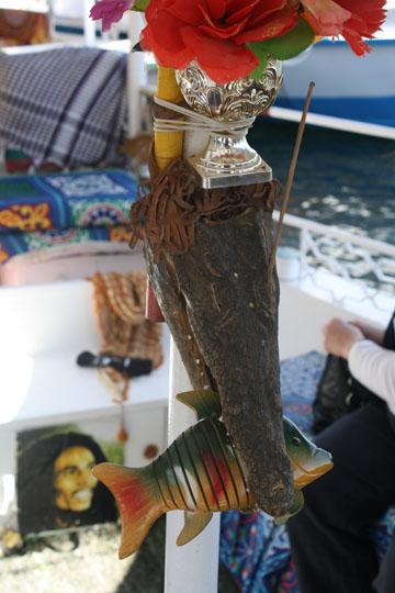 Crocodile Head on Boat